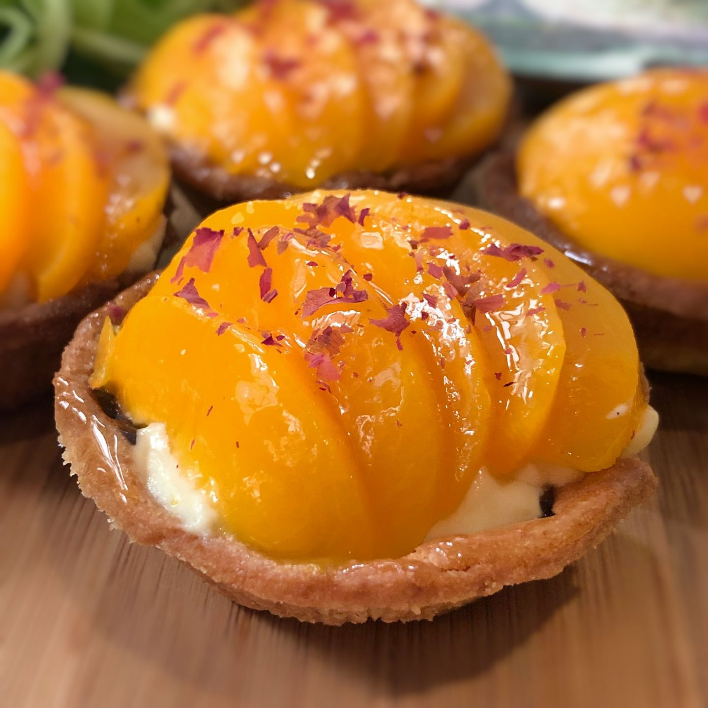 Custard Fruit Tart with Peach