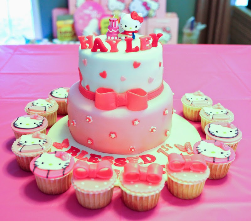 Hello Kitty Cake 2 Tier Birthday Cake Sherbakes