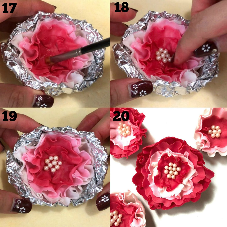 How to make fondant flowers 5
