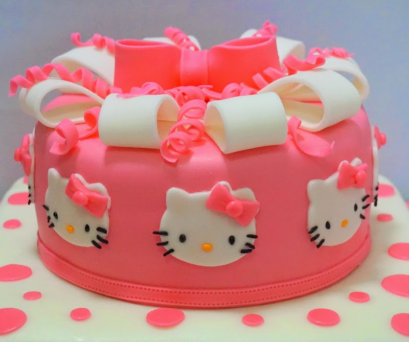 Pink Hello Kitty Cake