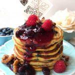 Blueberry poppyseeds pancake
