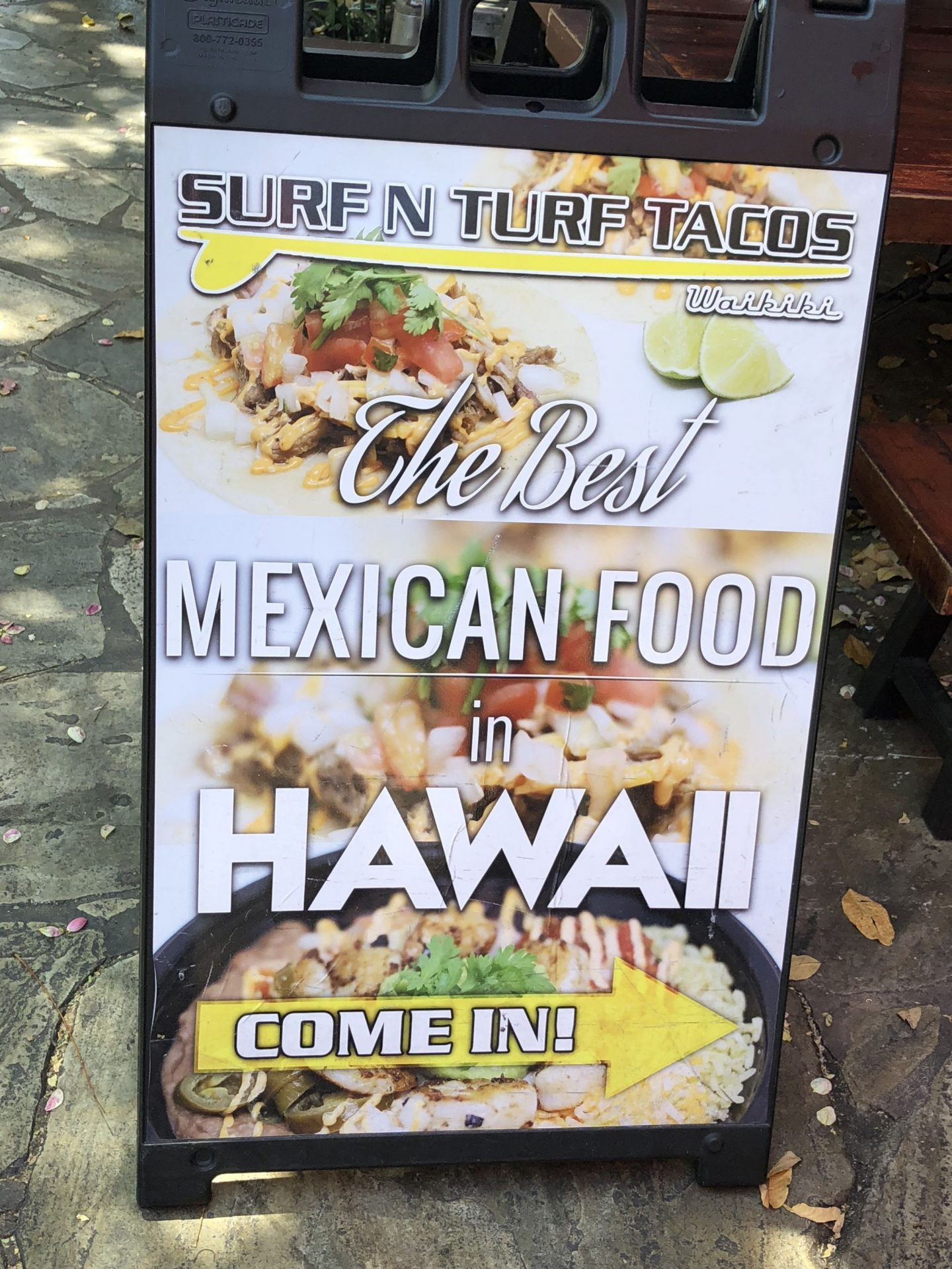 Surf and turf tacos Hawaii