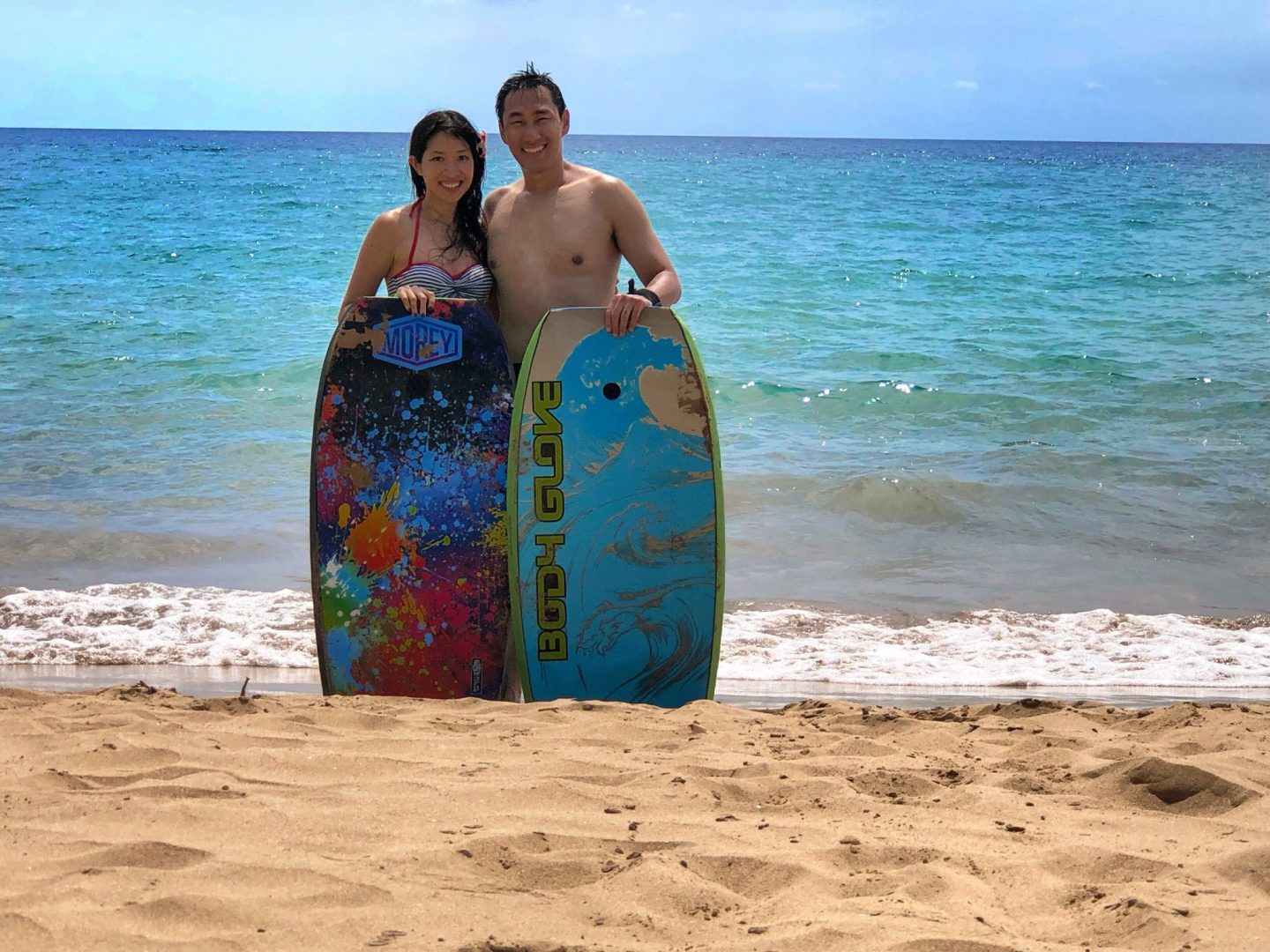 Bodyboarding in Hawaii