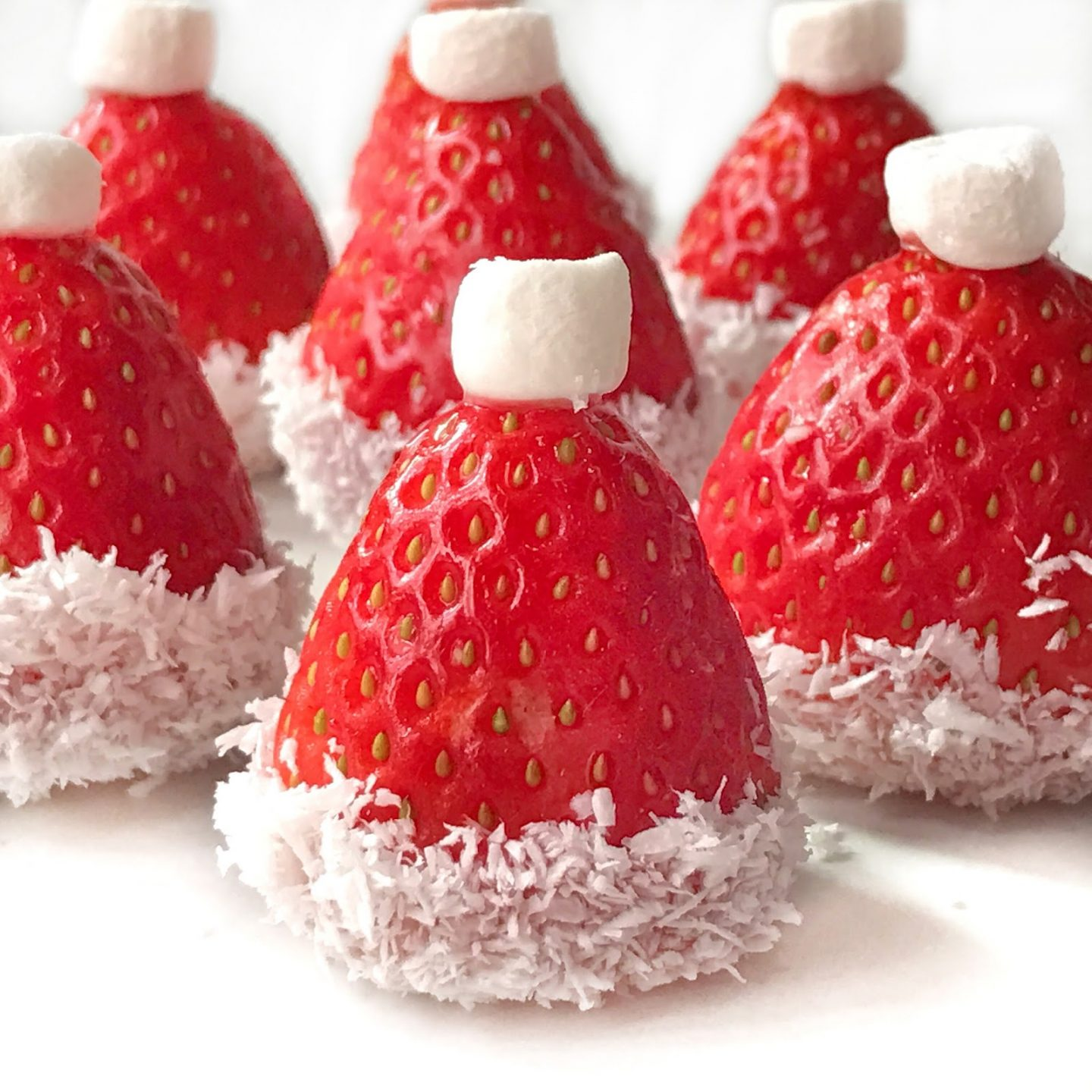 Santa Strawberry Hats