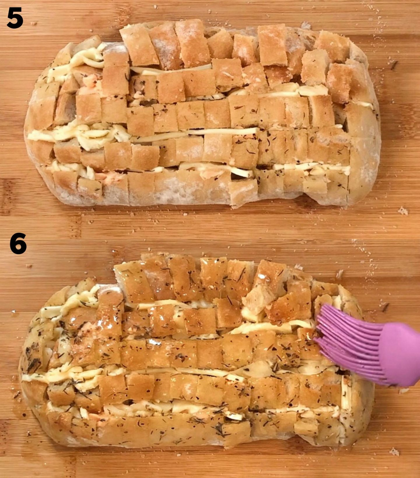 Cheesy herb bread 2