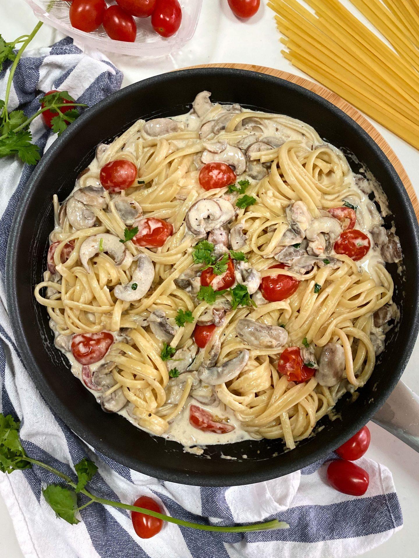 Cream based Pasta